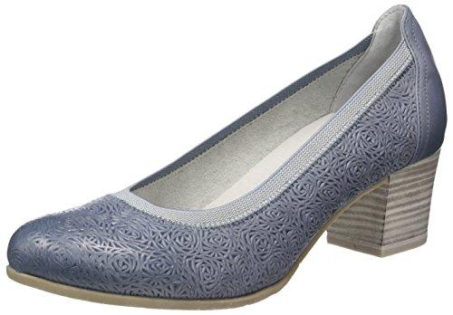 Marco Tozzi Premio 22316, Zapatos de Tacón para Mujer Azul (Denim Antic 812)