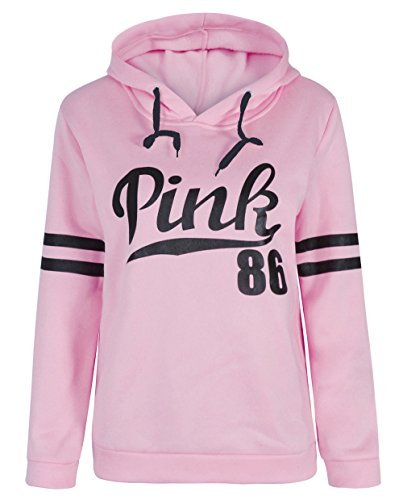 [Long Sleeve Sweatshirt for Women Letters Printed Hoodie Casual Pullover Fleasee] (Pink Sweat Suits)