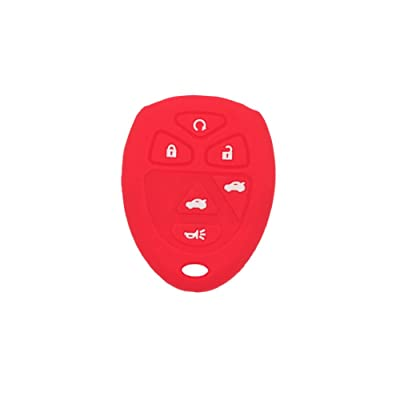 SEGADEN Silicone Cover Protector Case Skin Jacket fit for CHEVROLET GMC SATURN 6 Button Remote Key Fob CV4608 Red: Automotive