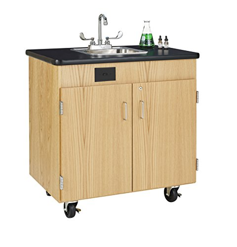 Diversified Woodcrafts HWS-3624K Mobile Hand Washing Station, 36