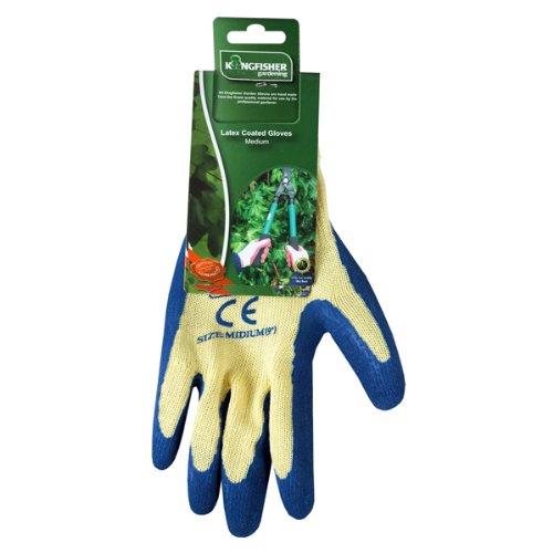 Selections Medium Latex Gardening Gloves Kingfisher GFA147