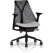Herman Miller Sayl Task Chair: Tilt Limiter - Stationary Seat Depth - Height Adj Arms - Hard Floor Casters - Black...