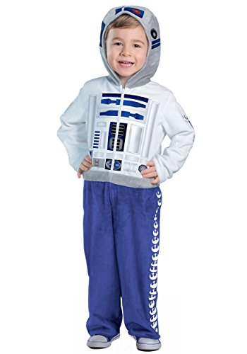 Princess Paradise Classic Star Wars Premium Toddler R2-D2 Costume, White/Blue, 2T