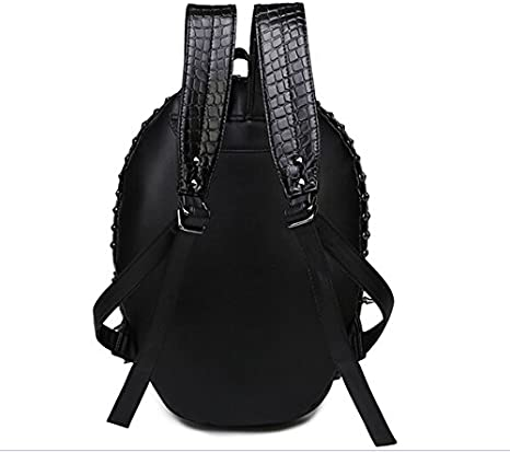 Pattistore Punk Style 3D Animal Snake Backpack Cobra PU Leather Backpack School Bag