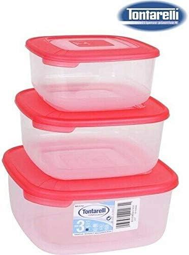Set contenitori per Alimenti plastica Tontarelli CASAMANIA Contenitori Alimentari 3 Pz