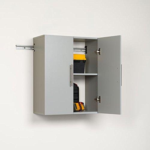 Storage Cabinet / Overhead Garage Storage, Industrial Grade Composite Wood 24-inch Upper Storage Cabinet UW-0706-STON, Assembly Required by Prepa