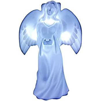 Amazon Com Solar Lighted Angel By Eternal Light