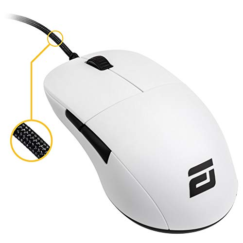 ENDGAME GEAR XM1 Gaming Mouse - Optical PWM3389 Sensor - Up to 16,000 DPI - 5 Buttons - Omron Switches - White