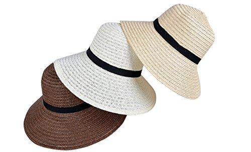 Vacaciones Recorrido Playa Verano 5pcs White Sombrero Señoras Gorra De wn0g6xXP