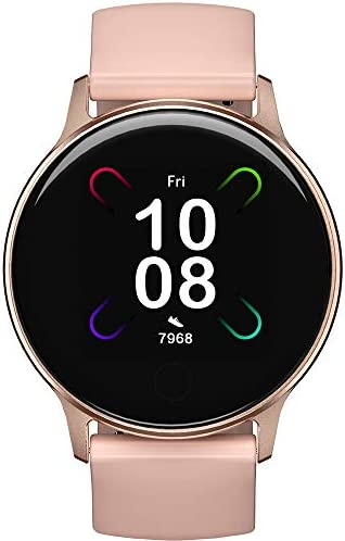 Smart Watch, UMIDIGI Uwatch 3S Fitness Tracker with Blood Oxygen Monitor and Heart Rate Monitor for Women Men. 5ATM Waterproof Activity Tracker with Compass for iPhone Samsung and Android.