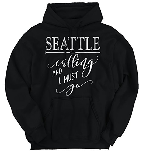 Brisco Brands Seattle, WA is Calling I Must Go Home Womens Shirt State City Hoodie ()