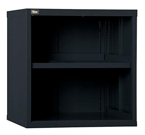Vidmar - RP1182BK - Overhead Cabinet, Open Face Cabinet Doors, 30W x 27-3/4D x 31H, 2 Shelves, Black