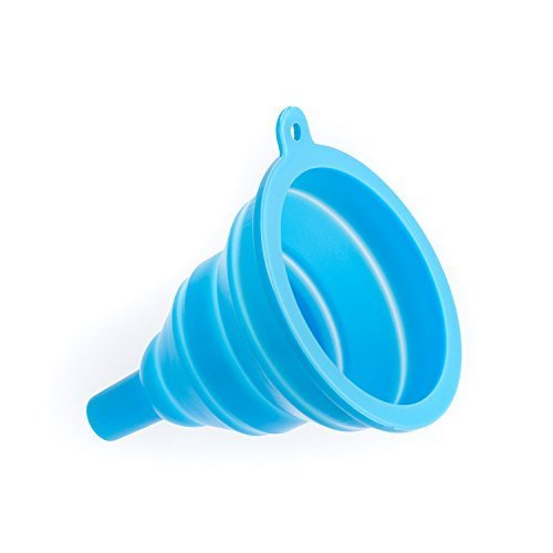 Silicone Collapsible Foldable Funnel Kitchen Gadget (Blue)
