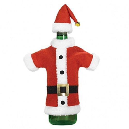 Mini Elf Hat (Amscan Santa Jacket and Hat Wine Bottle Cover (1 Pack), 12 1/2