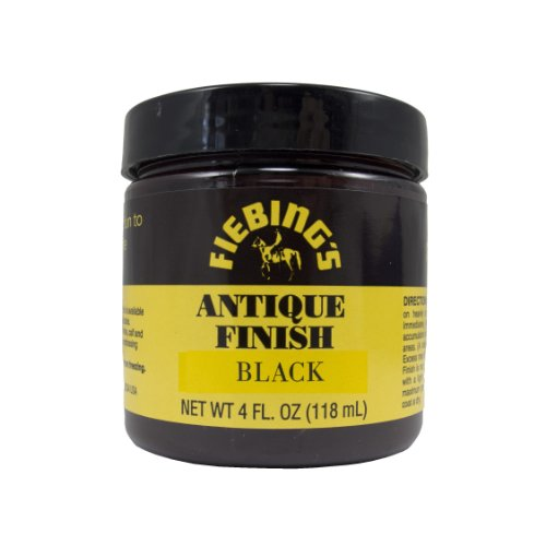 Fiebing's Black Antique Finish Paste 4oz - Black Leather Finish