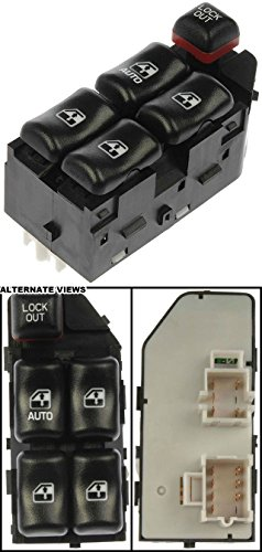 APDTY 012217 Master Power Window Switch Fits Front Left 2000-2005 Chevrolet Cavalier 4-Door Sedan (Driver-Side Front; Replaces 22610145)