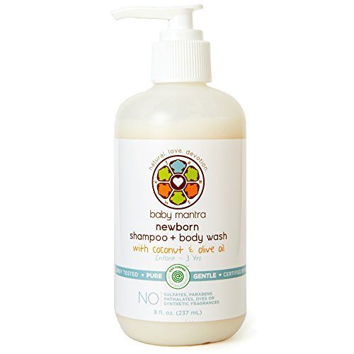 1 Bath Soap (Baby Mantra 2-in-1 Shampoo and Body Wash - EWG Verified Bath Soap for Newborns, Infants, Toddlers, and Kids with Sensitive Skin, 8 Ounce Pump Bottle)
