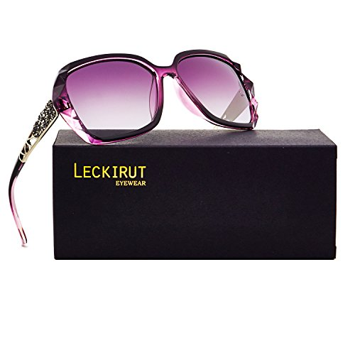 Leckirut Women Shades Classic Oversized Polarized Sunglasses 100% UV Protection Eyewear