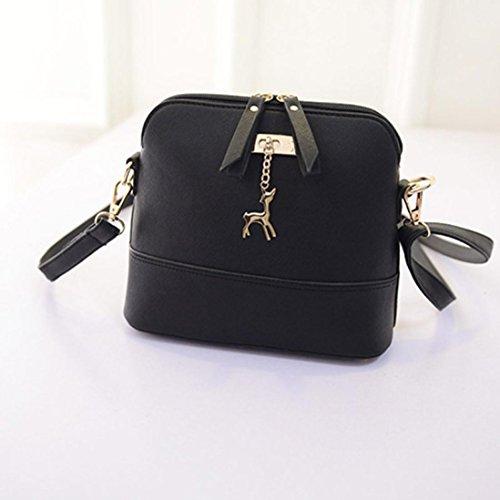 Bolsos Para mujer, RETUROM Nuevo estilo mujeres casual Vintage mensajero bolsas bolso Negro