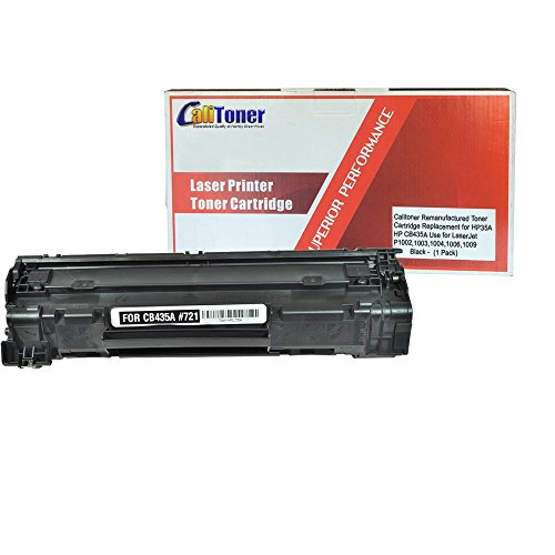 Calitoner Remanufactured Toner Cartridge Replacement for HP CB435A ( Black )