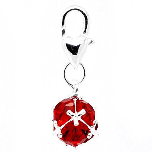 SEXY SPARKLES Birthstone Dangle Charm Pendant for European Clip on Charm Jewelry with Lobster Clasp