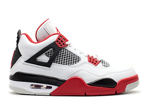 Nike Air Jordan 4 Retro Brann Rød (308497-110)