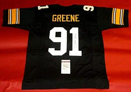 the best attitude 2e9d8 218a1 KEVIN GREENE AUTOGRAPHED PITTSBURGH STEELERS JERSEY JSA HOF ...