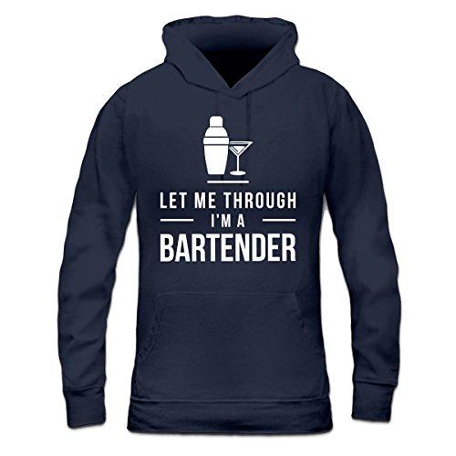 Sudadera con capucha de mujer Let Me Through I'm A Bartender by Shirtcity Azul marino