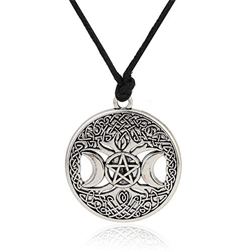 Eaglers Moon Pendant Necklace Triple Moon Goddess Wicca