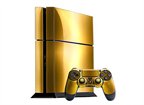sony-playstation-4-skin-ps4-new-brushed-gold-system-skins-faceplate-decal-mod