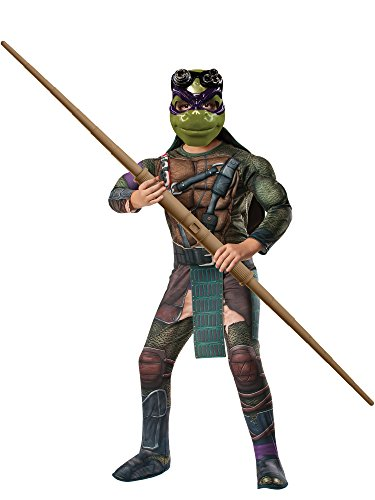 Rubies Teenage Mutant Ninja Turtles Deluxe Muscle-Chest Donatello Costume, Child Large -
