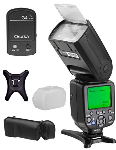 Osaka TTL Camera Flash Speedlite Speedlight DF960 Mark IV with 2.4G Radio Trigger for Nikon DSLR Cameras, 1/8000 HSS, E-TTL, GN 72
