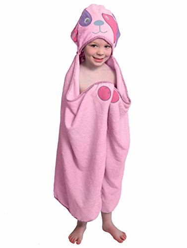 Pink Dog - One of a kind extra large toddler / child Animal Character Towel with paws and a tail, Frenchie Mini Couture