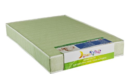 Dream On Me 5'' Double Sided Play Yard Foam Mattress, Green by Dream On Me (Image #2)