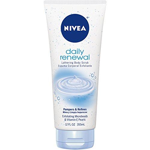 NIVEA Renewal Lathering Body Scrub, 12 Ounce (Packaging may vary)