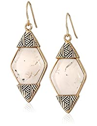 Barse African Opal Statement Drop Earrings