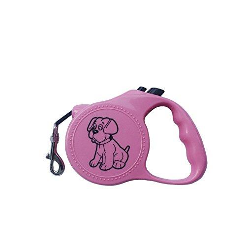3M Automatic Retractable Led Dog Collar Correa Perro Pitbull Pet Traction Rope Dog Necklace Collar Led Perro Dog (Pink) (Perros Pitbull)