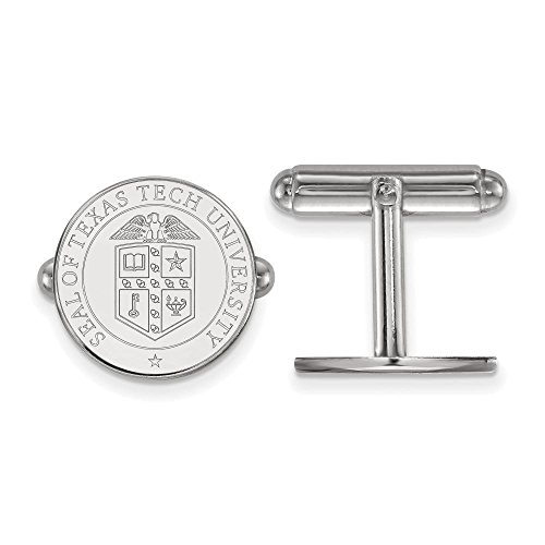 Texas Tech Crest Cuff Links (Sterling Silver)