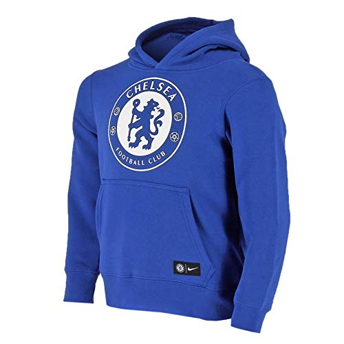 2017-2018 Youth Chelsea Nike Core Hooded Top (Blue)