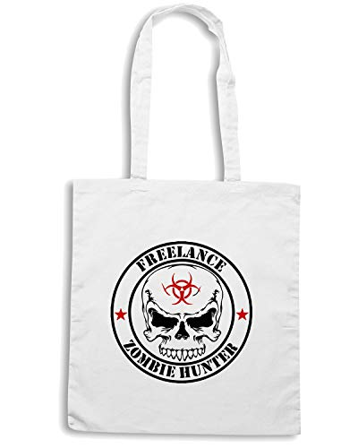 Borsa Shopper Bianca TZOM0002 FREELANCE ZOMBIE HUNTER