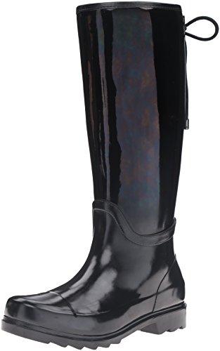Nine West Women's Oops Rubber Rain Shoe Black/Multi