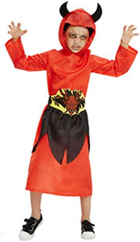 LEMON TREE SL Disfraz para Halloween de NIÑO Disfraz de Diablo Talla 10-12 años. Medida 146CM.Cosplay Halloween.: Amazon.es: Hogar