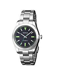 Whatswatch 40mm parnis black dial Lightning pointer sapphire glass automatic mens watch PD-222