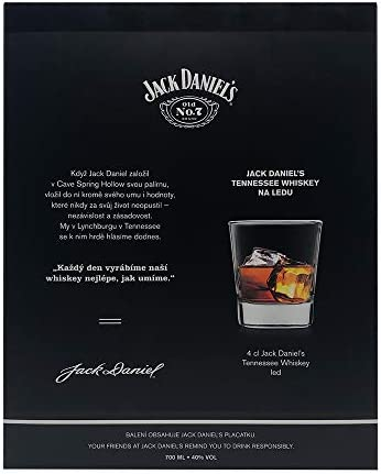 Jack Daniel's Hip Flask - Flachmann Geschenkset (1 x0,7 Liter)