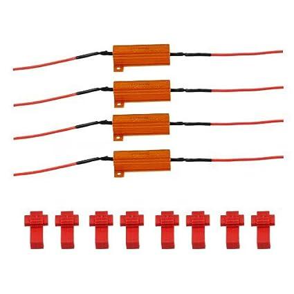 Amazon com: Mingruie 4-piece LEDs Load Decoding Resistors Kits motor