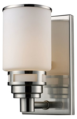 - Bryant 1 Light LED Vanity in Satin Nickel and Opal White Glass