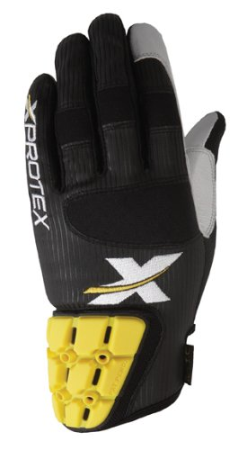 Xprotex Boys Small Dingr Black/Black Batting Glove, Youth Medium