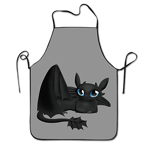 [Night Fury Kitchen Aprons For Women Men] (Kids Toothless Night Fury Costumes)