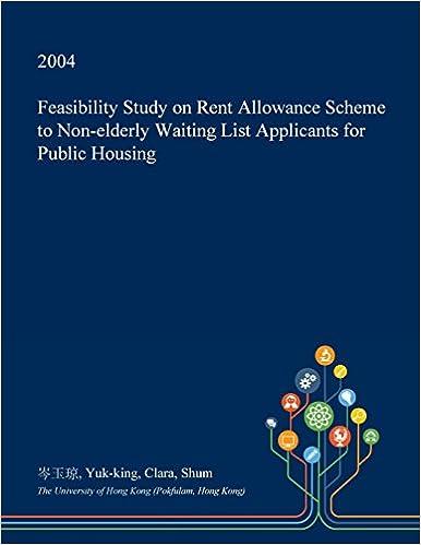 Feasibility Study on Rent Allowance Scheme to Non-elderly Waiting