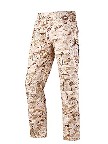 (LANBAOSI Tactical Combat Pants Multicam Military Army Cargo Pants Outdoor Airsoft Hunting ACU Camo)